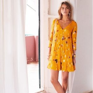 Sezane silk 👗 dress (Aure in yellow)